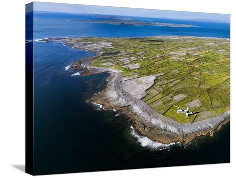 Aerial View of the Island of Inisheer and the Aran Islands, Ireland-Chris Hill-Stretched Canvas Print