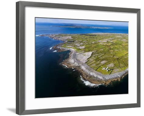 Aerial View of the Island of Inisheer and the Aran Islands, Ireland-Chris Hill-Framed Art Print