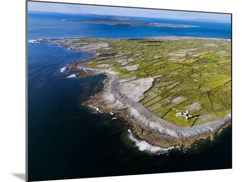 Aerial View of the Island of Inisheer and the Aran Islands, Ireland-Chris Hill-Mounted Photographic Print