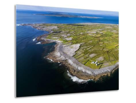 Aerial View of the Island of Inisheer and the Aran Islands, Ireland-Chris Hill-Metal Print