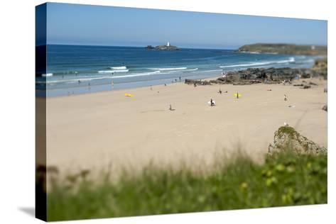 From the Cliffs at Gwithian Looking Towards Godrevy Lighthouse-Alex Treadway-Stretched Canvas Print