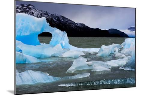 Icebergs Float in Lago Grey in Torres Del Paine National Park-Mattias Klum-Mounted Photographic Print