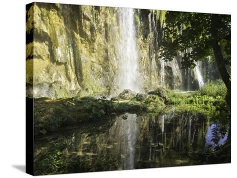 Waterfalls Cascade Down Cliffs in Plitvice Lakes National Park-Jonathan Irish-Stretched Canvas Print