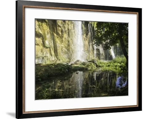 Waterfalls Cascade Down Cliffs in Plitvice Lakes National Park-Jonathan Irish-Framed Art Print