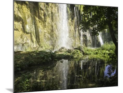 Waterfalls Cascade Down Cliffs in Plitvice Lakes National Park-Jonathan Irish-Mounted Photographic Print