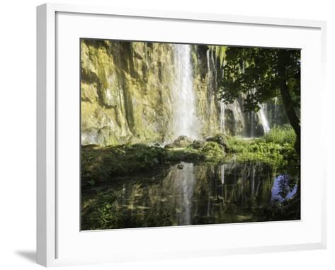 Waterfalls Cascade Down Cliffs in Plitvice Lakes National Park-Jonathan Irish-Framed Art Print