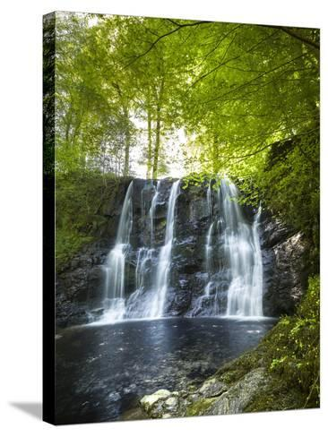 Glenariff Waterfall in County Antrim-Chris Hill-Stretched Canvas Print