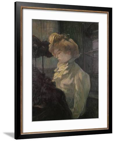 Milliner-Henri de Toulouse-Lautrec-Framed Art Print