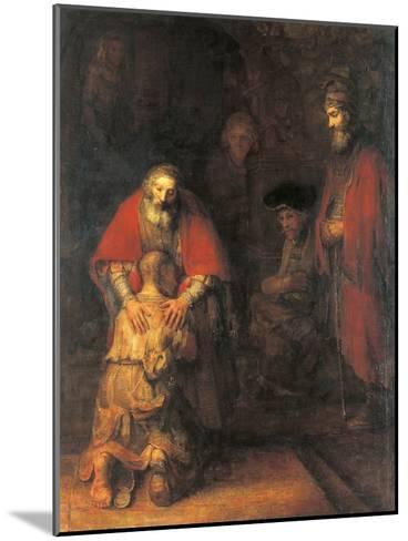 Return of the Prodigal Son-Rembrandt van Rijn-Mounted Art Print