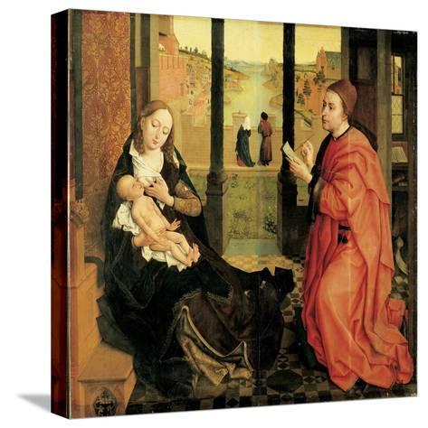 St. Luke Painting the Virgin-Rogier van der Weyden-Stretched Canvas Print