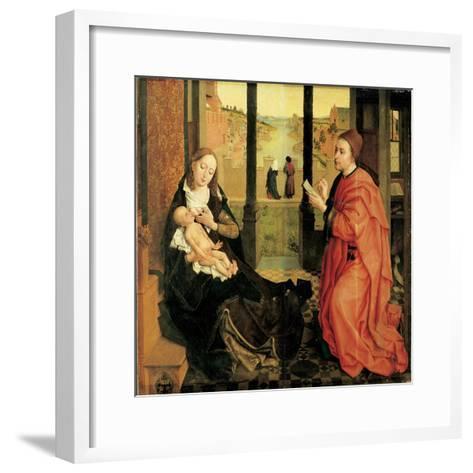 St. Luke Painting the Virgin-Rogier van der Weyden-Framed Art Print