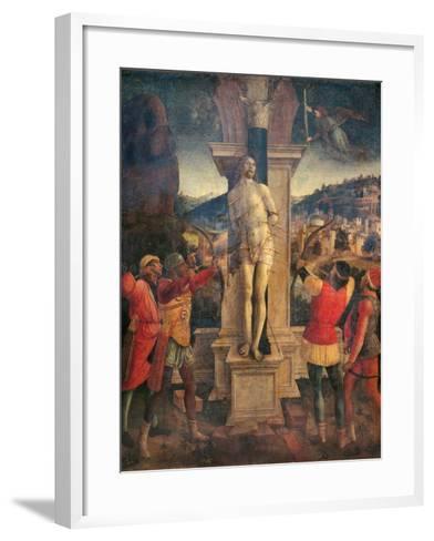 Martyrdom of Saint Sebastian-Vincenzo Foppa-Framed Art Print