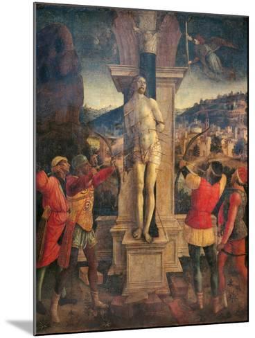 Martyrdom of Saint Sebastian-Vincenzo Foppa-Mounted Art Print