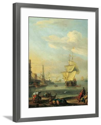 Mediterranean Harbor-Abraham Storck-Framed Art Print