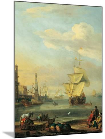 Mediterranean Harbor-Abraham Storck-Mounted Art Print