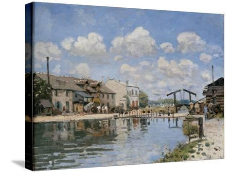 Canal Saint Martin-Alfred Sisley-Stretched Canvas Print