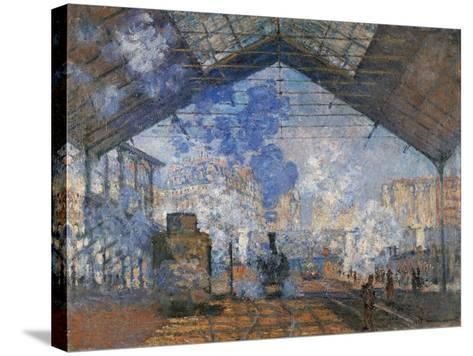 Saint Lazare Station-Claude Monet-Stretched Canvas Print