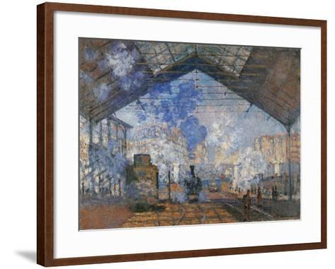 Saint Lazare Station-Claude Monet-Framed Art Print