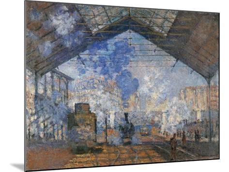 Saint Lazare Station-Claude Monet-Mounted Art Print