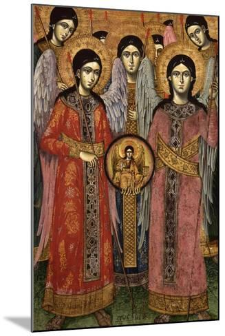 Synaxis (Assembly) of the Archangels--Mounted Art Print