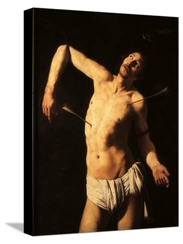 Saint Sebastian-Caravaggio-Stretched Canvas Print