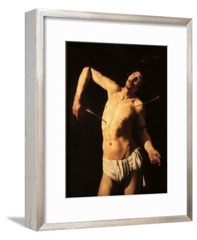 Saint Sebastian-Caravaggio-Framed Art Print