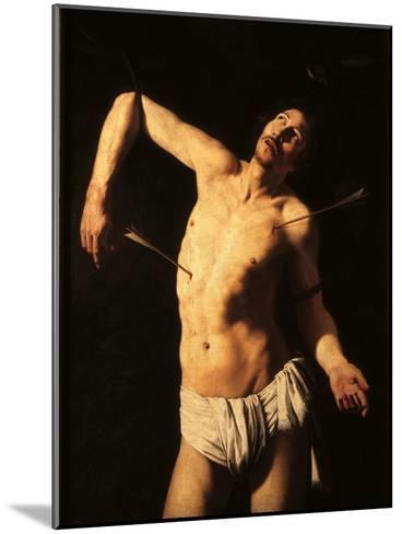 Saint Sebastian-Caravaggio-Mounted Art Print
