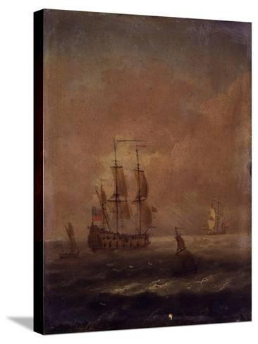Seascape with Ships, C. 1690 - 1710--Stretched Canvas Print