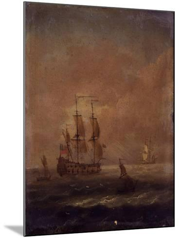 Seascape with Ships, C. 1690 - 1710--Mounted Art Print