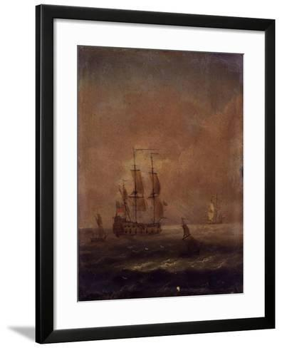 Seascape with Ships, C. 1690 - 1710--Framed Art Print