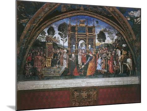 Dispute of St. Catherine (With Emperor Maximian)-Bernardino di Betto Pinturicchio-Mounted Art Print