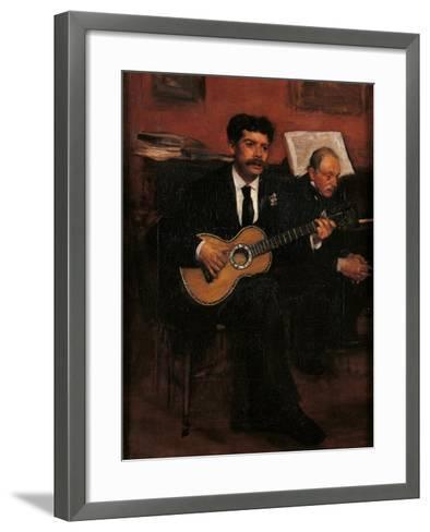 Lorenzo Pagans and Auguste Degas-Edgar Degas-Framed Art Print