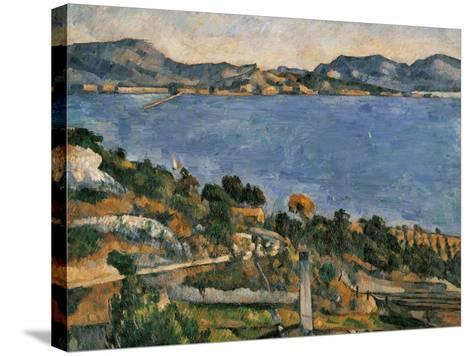L'Estaque, View of the Bay of Marseille, 1878-1879-Paul C?zanne-Stretched Canvas Print