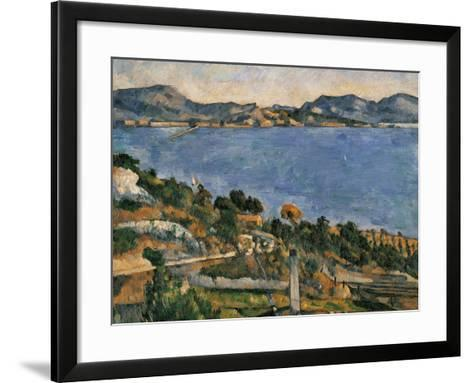 L'Estaque, View of the Bay of Marseille, 1878-1879-Paul C?zanne-Framed Art Print