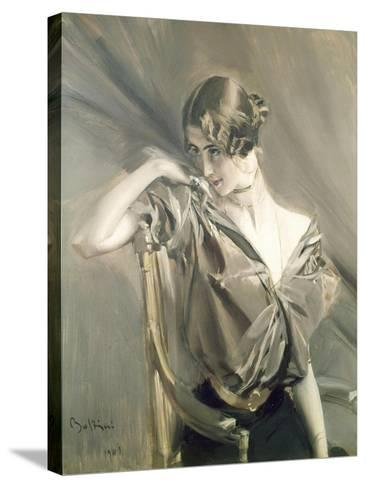 Cleo De Merode, Famous Dancer at the Opera in Paris-Giovanni Boldini-Stretched Canvas Print