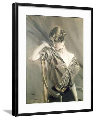 Cleo De Merode, Famous Dancer at the Opera in Paris-Giovanni Boldini-Framed Art Print