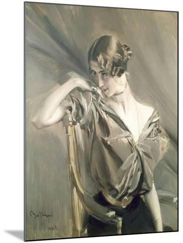 Cleo De Merode, Famous Dancer at the Opera in Paris-Giovanni Boldini-Mounted Art Print
