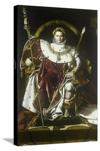 Napoleon I on the Imperial Throne-Jean-Auguste-Dominique Ingres-Stretched Canvas Print