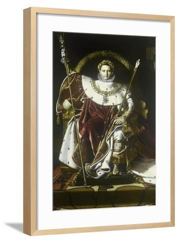 Napoleon I on the Imperial Throne-Jean-Auguste-Dominique Ingres-Framed Art Print