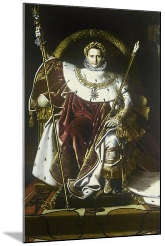 Napoleon I on the Imperial Throne-Jean-Auguste-Dominique Ingres-Mounted Art Print
