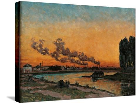 Sunset in Ivry-Jean-Baptiste-Armand Guillaumin-Stretched Canvas Print