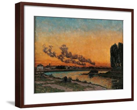 Sunset in Ivry-Jean-Baptiste-Armand Guillaumin-Framed Art Print