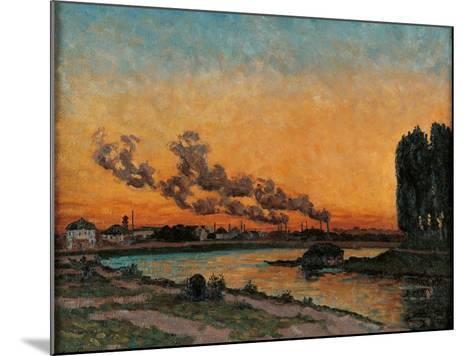 Sunset in Ivry-Jean-Baptiste-Armand Guillaumin-Mounted Art Print