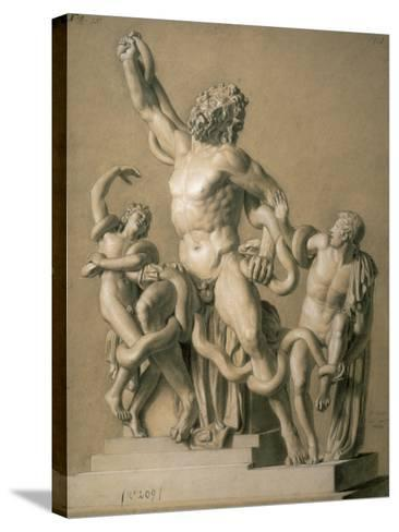 Drawing of the Greek Sculpture Laocoon, 1820-Santo Trolli-Stretched Canvas Print
