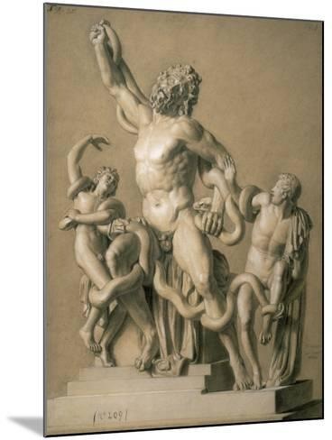 Drawing of the Greek Sculpture Laocoon, 1820-Santo Trolli-Mounted Art Print