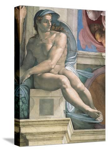 Sistine Chapel Ceiling, Male Nude-Michelangelo Buonarroti-Stretched Canvas Print
