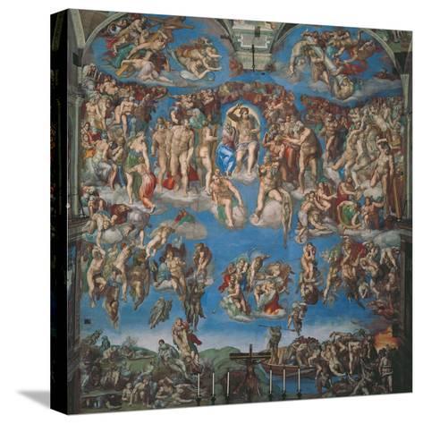 Sistine Chapel, the Last Judgment (Entire View)-Michelangelo Buonarroti-Stretched Canvas Print
