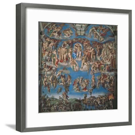 Sistine Chapel, the Last Judgment (Entire View)-Michelangelo Buonarroti-Framed Art Print