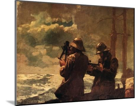 Eight Bells-Winslow Homer-Mounted Art Print