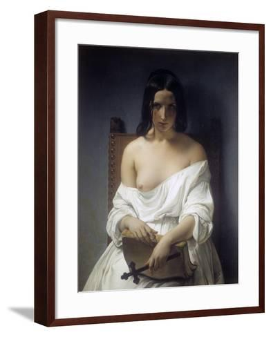 Meditation-Francesco Hayez-Framed Art Print